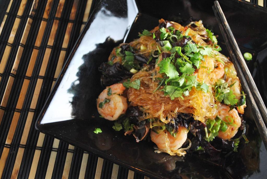 Thai glass noodle with shrimps