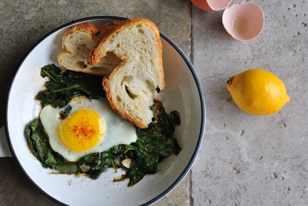 Skillet Egg with Spinach