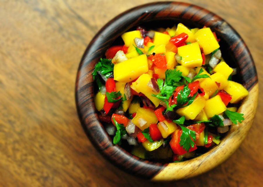 Roasted Red Pepper Mango Salsa
