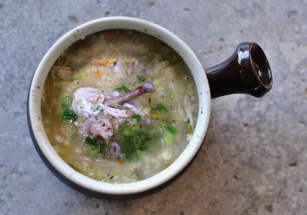 Garlic-Chicken Bulgar Soup