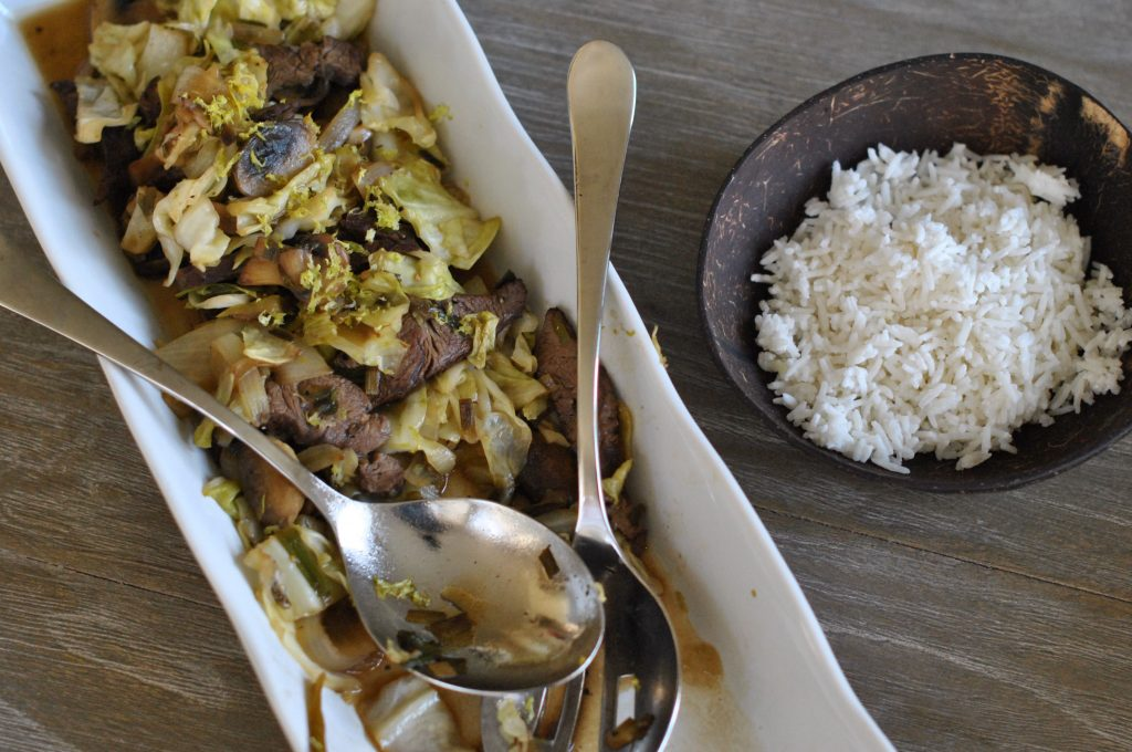 Cabbage Stir Fry with Beef